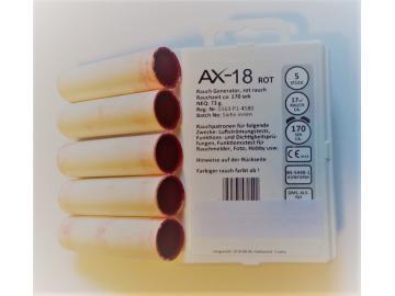 5 Rauchpatronen AX 18 rot