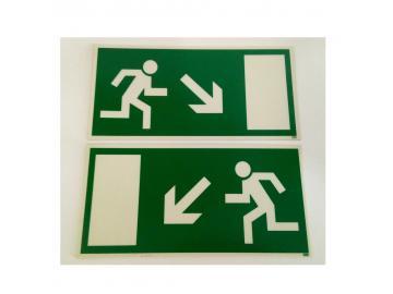 2 Fluchtweg Schilder