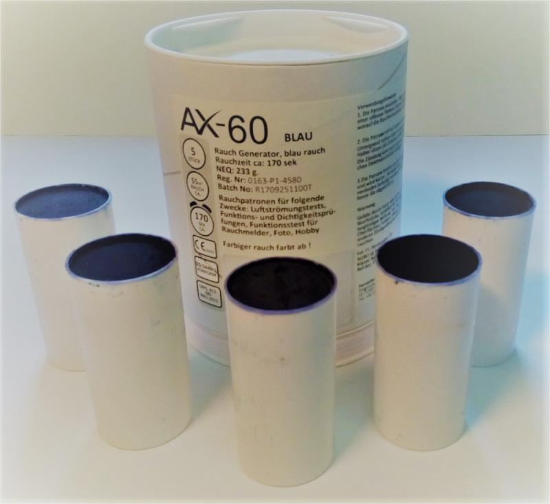 5 Rauchpatronen AX 60 blau