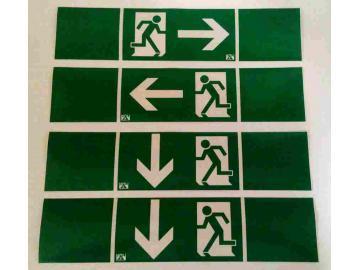 4 Aufkleber für Fluchtwege