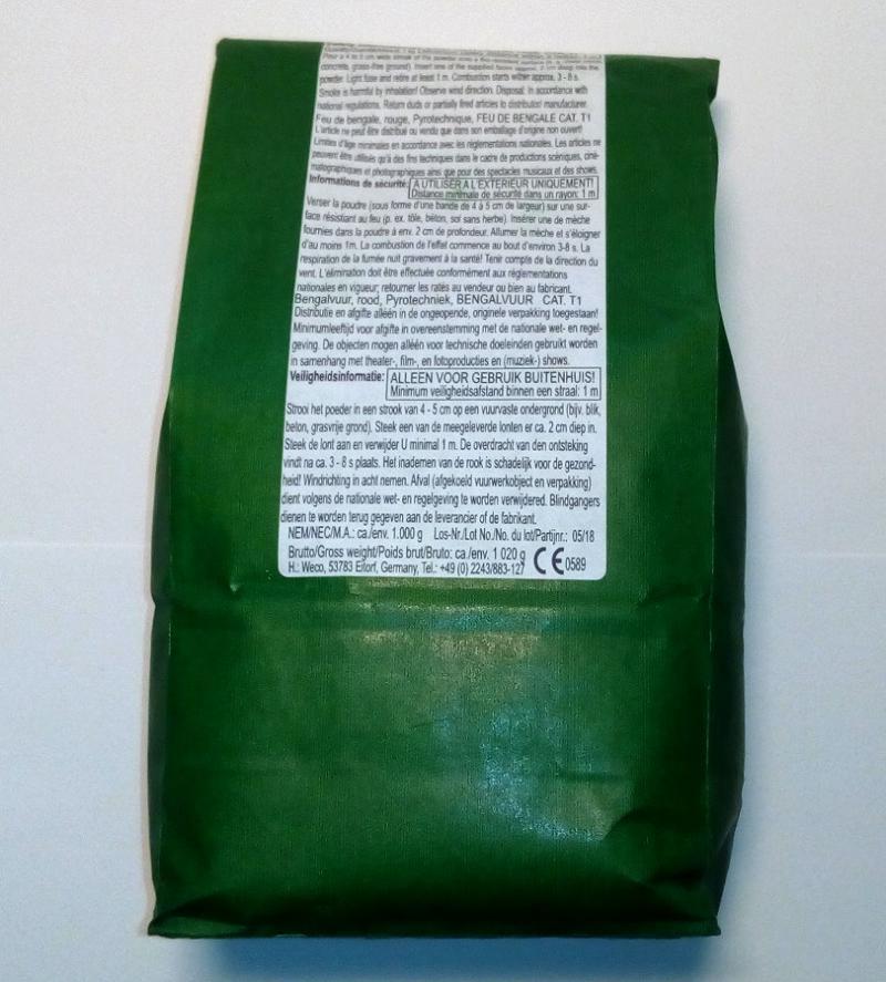 1 Kg Bengalfeuer rot