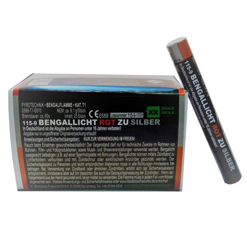 Bengallanzen rot-silber